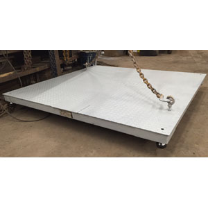 SALTER-Brecknell USED Floor Scale, 5,000 lb 5' x 5'